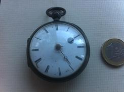 Gousset Coq Argent Silver,balancier Ok,à Reviser - Watches: Bracket