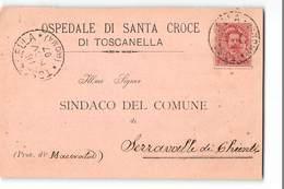 10368 02 OSPEDALE DI SANTA CROCE DI TOSCANELLA X SERRAVALLE DI CHIENTI - 1878-00 Humbert I