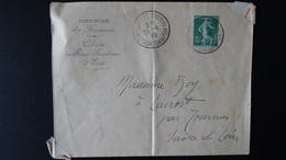 France -  Enveloppe Ministere Des Finances - 5c Vert Semeuse - Année 1919 - 1877-1920: Semi Modern Period