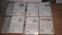 """DEPART 1 EURO - GROS LOT De 270 Documents De La """"COLLECTION HISTORIQUE DU TIMBRE POSTE FRANCAIS""""  FDC PREMIER JOUR - FDC"""