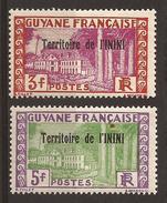 ININI - N° 25 & 26 - NEUF XX MNH (GC) - Inini (1932-1947)