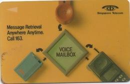 Singapore Telecom : Voice Mailbox : Message Retrieval Anywhere Anytime. Call 163 - Singapour