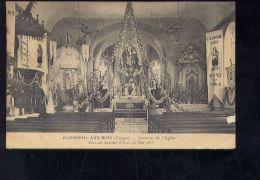 CPA (88) Badménil-aux-Bois  -   Intérieur De L'église -  Fêtes De Jeanne D'Arc  -  16 Mai 1915 - Autres Communes