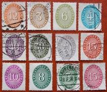 1934 Allemagne Service Y&T 77 - 78 - 79 - 81 - 86 - 87 - 89 - 90 - 91 - 92 - 102 - 103 Neufs Et Oblitérées - Officials