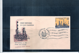 FDC Pakistan - First Refinery In East Pakistan - 1969 (to See)