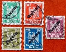 1934 Allemagne Service Y&T 69 - 70 - 71 - 72 - 73 - Oblitérées - Officials