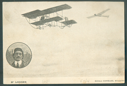 N°81 - 1 Centime Gris, Obl. Sc Ambulant MONS-TOURNAI BERGEN-DOORNIJK Sur C.V (Aviateur LANSER + 2 Aéroplanes) Du 12-VI-1 - Postmark Collection