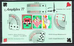 Nederlandse Antillen Antilles 1977,3V In Block,playing Cards.speelkaarten,spielkarten,cartes à Jouer,MNH/Postfris(L3048) - Juegos