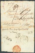 LSC Expédié Le 8 Août 1813 Vers Paris Au Corps Législatif (biffé) Réexpédié Le Comte Sénateur Dandolo + (verso) Manuscri - Marcophilie (Lettres)