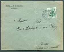 5 Centimes S/5pfg Obl. Sc SMYRNA DEUTSCHE POST Sur Lettre (Franz KOOPS) Du 19-5-1909 Vers Anvers - 11746 - Otros
