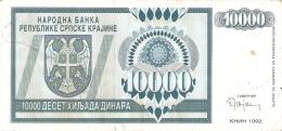 CROATIE   10,000 Dinara   1993   P. R7a - Croatia