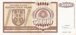 CROATIE   50,000 Dinara   1993   P. R8a - Croatie