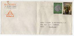 Maroc--Lettre De CASABLANCA Pour PARIS (France)--Beaux Timbres Sur Lettre Personnalisée Sté CIET - Maroc (1956-...)