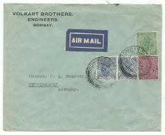Air Mail - Indes - Bombay 3 Sept 32 To Neugersdorf Germany 13.9.32