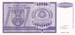 CROATIE   5 Milliard Dinara   1993   P. R18a - Croatie