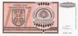 CROATIE   10 Milliard Dinara   1993   P. R19a   SUP - Croatie