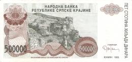 CROATIE   500,000 Dinara   1993   P. R 23a   SUP - Kroatië