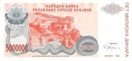 CROATIE   5 Million Dinara   1993   P. R 24a   UNC - Kroatië