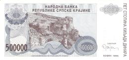 CROATIE   500,000 Dinara   1994   P. R 32a   UNC - Croatie