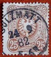 Allemagne Empire Y&T N° 40 Oblitérée 1882 Sans E Final - Allemagne