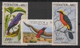 Mali - 1960 - Poste Aérienne PA N°Yv. 2 à 4 - Oiseaux - Neuf Luxe ** / MNH / Postfrisch - Mali (1959-...)