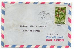 Côte D'Ivoire  --lettre De TIASSALE Pour PARIS (France) --timbre (fleur) Seul Sur Lettre--cachet - Côte D'Ivoire (1960-...)