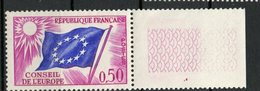 France 1963 50c  Council Of Europe Issue #1O9  With Label MNH - Neufs