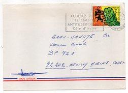 Côte D'Ivoire-lettre De ABIDJAN Pour NEUILLY/SEINE (France)-timbre Seul Sur Lettre--cachet Avec Couronne à L'envers - Côte D'Ivoire (1960-...)