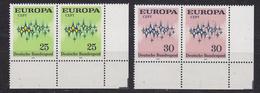 Europa Cept 1972 Germany 2v Pair (corner)  ** Mnh (35290B) - 1972
