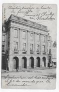 (RECTO / VERSO) ARRAS EN 1904 - N° 80 - LE THEATRE AVEC PERSONNAGE - LEGERS PLIS EN BAS - BEAU CACHET - CPA VOYAGEE - Arras
