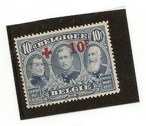 Belgique N°162 , 10   Francs Oblitéré , Beau Timbre RRR - 1918 Croix-Rouge