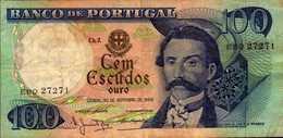 PORTUGAL 100 ESCUDOS  Du  30-11-1965  Pick 169a - Portugal