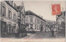 Andilly , 95. Rue De Paris. CPA Animée. Tabac, Café Restaurant. - France