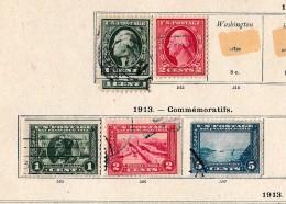 USA   .            Pagina Met Zegels       .          /           .    Page With Stamps - Verenigde Staten