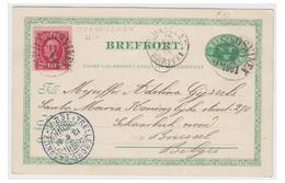 SUEDE -- 1901 -- ENTIER POSTAL AVEC COMPLEMENT D'AFF. DE LA SUEDE POUR LA BELGIQUE-- TTB - Schweden