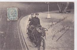Cpa Dedicacée-sport /cyclisme Piste (stayer)-Cycliste César SIMAR (Lille) Entrainé Par G. Peguy -moto - Cyclisme