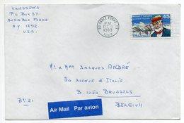 U.S.A--lettre De AU SABLE FORKS (N.Y) Pour BRUXELLES (Belgique)--timbres Seul Sur Lettre,Beau Cachet Mécanique - Stati Uniti