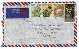 Afrique Du Sud--1980--lettre De DOORNFONTEIN JOHANNESBURG Pour PARIS (France)--timbres (fleurs) Sur Lettre- - South Africa (1961-...)