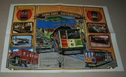 Supplément Spirou Du N° 2152 Poster Double Face, Les Cable Cars De San Franciscoet La Voiture Studerbaker Avanti 1963 - Spirou Magazine