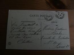 Menton Villa Des Rosiers Station Sanitaire Pour Soldats Aveugles  Cachet Franchise Postale Militaire Guerre 14.18 - Poststempel (Briefe)