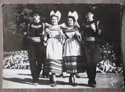 NEVEZ (29).FOLKLORE  EN CORNOUAILLE : LA GAVOTTE . ANNEE 1967.CACHET POSTE INTERESSANT.GAZ.ELECTRICITE. - Névez