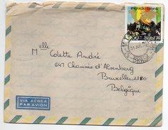 BRESIL---lettre De SAO PAULO Pour BRUXELLES (Belgique)--timbre (immigration Italienne) Seul Sur Lettre-cachet - Brésil