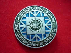 World Junior Biathlon Championship 1976 Minsk Belarus USSR Pin - Biathlon