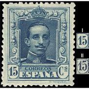 ES315STV-LFT***315STCFR.España.Spain. Espagne.REY ALFONSO Xlll.VAQUER .1922/30.(Ed 315**)  Sin  Charnela - Familias Reales