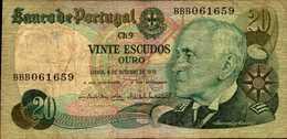 PORTUGAL 20 ESCUDOS  Du 4-10-1978  Pick 176b - Portugal