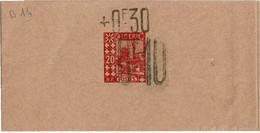 BR39- ALGERIE EP BANDE POUR JOURNAUX ACEP N°14 MOSQUEE 30c/10c/20c NEUVE - SURCH. 30c EN POSITION HAUTE - Algérie (1924-1962)