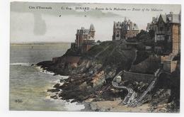 (RECTO / VERSO) DINARD EN 1910 - N° 614 - POINTE DE LA MALOINE - BEAU CACHET - CPA VOYAGEE - Dinard