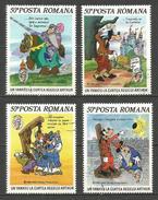 RUMANIA WALT DISNEY YVERT NUM. 3634/3637 SERIE COMPLETA USADA - Gebraucht