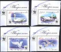 Mint  Stamps Fauna WWF Birds Swan 2015 From Kyrgyzstan - W.W.F.