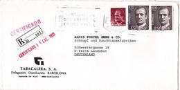 Spanien, 1992, R-Brief Nach Deutschland (i075) - 1991-00 Briefe U. Dokumente